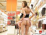 Portuguese Girlfriend Showing Ass Under Skirt