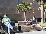 Epouse Exhibitionniste Clignote chatte en public