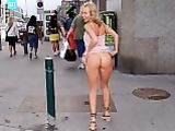 Exhibitionist Woman Flashing in Public