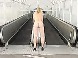 Wife Naked at Public Subway