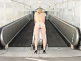 Wife Naked at Public Subway