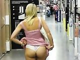 Blonde Amateur Wife Flashes Ass in Hypermarket Photo