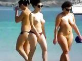 Nude Beach Video Ladies Topless Walking