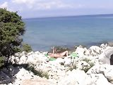 Nudists Beach in Croatia Sexy Pussy Does Nude Sunbathing