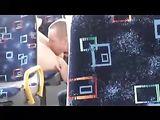 Voyeur Spioneren Hidden Camera Echtpaar neuken in het openbaar Bus