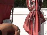 Candid Voyeur Video Topless Woman Beach con Natural Big Tits