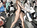Brazilian Girl Walking Nude in Public Street Hot Photo