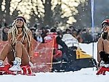 Naked Sledding Photo