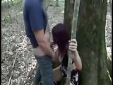 Kinky Slutty Girl Fucked in the Woods while Friend Filming