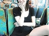 Nude Shots Fotos coño de novia linda en autobús público