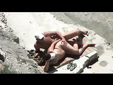 Video de sexo de voyeur playa